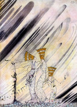 kay nielsen norwegian tales the three princesses of the blue mountain Fantasy Oil Paintings