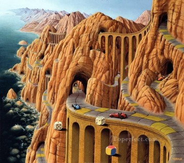 roads ventimiglia Fantasy Oil Paintings