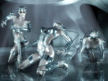 robot nudes Fantasy Decor Art