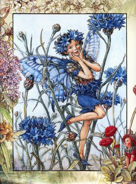 the cornflower fairy Fantasy Oil Paintings