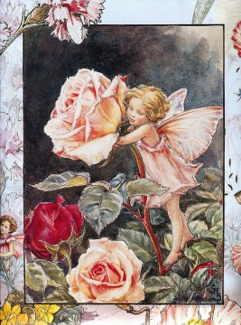 rose roses Painting - the rose fairy Fantasy