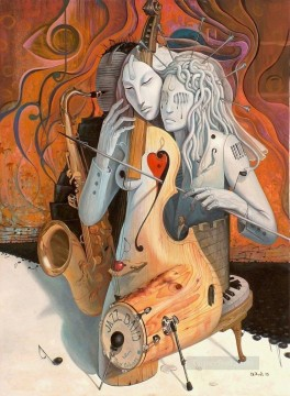musical Painting - women as musical instruments Fantasy