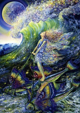 Dream Painting - JW fairies surfers dream Fantasy