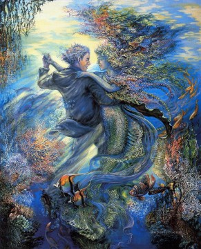 JW for the love of a mermaid Fantasy Oil Paintings