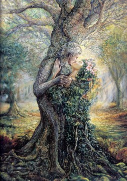 Spirit Painting - JW the dryad and the tree spirit Fantasy
