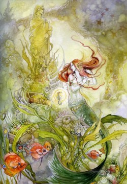 her garden Fantasy Oil Paintings