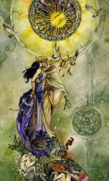 lovers Art - sl tarot major arcana 07 lovers Fantasy