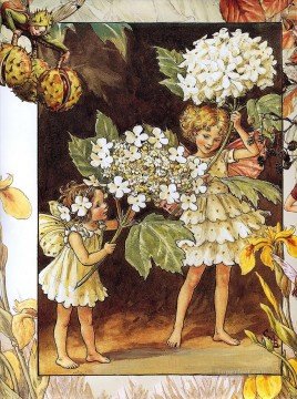 rose roses Painting - the guelder rose fairy Fantasy