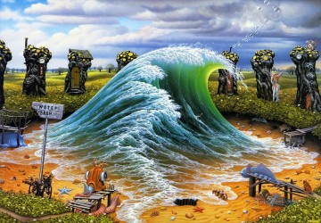 waters private wave Fantasy Oil Paintings