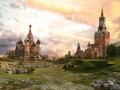 web vladimir manjuhin apocalypse red square sunrise Fantasy