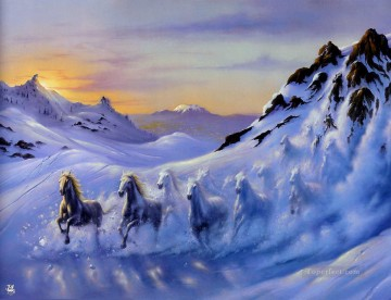 Avalanche Fantasy Oil Paintings