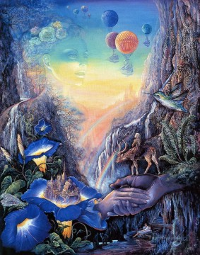 Surrealism Painting - JW fantasy surrealism bridge of hope