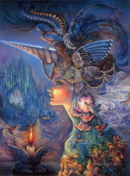 JW goddesses my lady unicorn Fantasy Oil Paintings