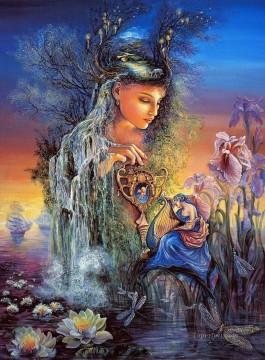 JW goddesses undine Fantasy Oil Paintings