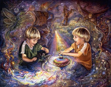JW the magic spinning top Fantasy Oil Paintings