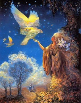 JW winged vision Fantasy Oil Paintings
