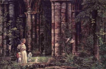 Queen Mab and the Ruins Fantasy Oil Paintings