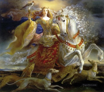 fantasy eleanor of aquitaine Oil Paintings
