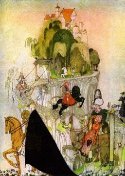 Tales Oil Painting - kay nielsen norwegian tales the giants heart Fantasy