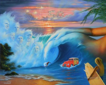portrait of Beach Boys Fantasy Oil Paintings
