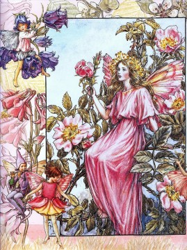 rose roses Painting - the wild rose fairy Fantasy