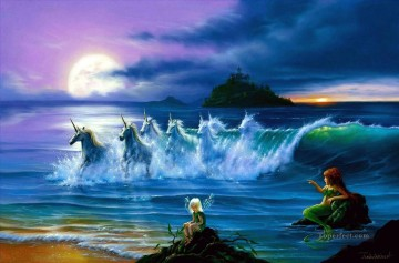 Popular Fantasy Painting - they only come out at night Fantasy