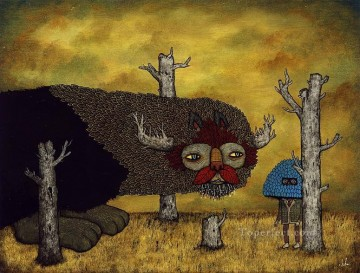 visit from the spirit of dead forests Fantasy Oil Paintings