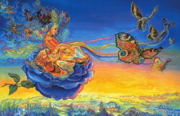 JW butterfly princess Fantasy Oil Paintings