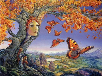 Artworks in 150 Subjects Painting - JW butterfly tree Fantasy