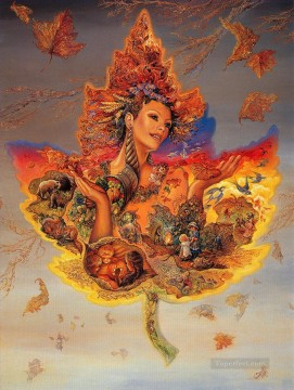 JW goddesses creation of autumn Fantasy Oil Paintings