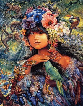 JW princess of the amazon Fantasy Oil Paintings