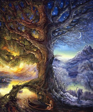 Artworks in 150 Subjects Painting - JW tree of time river of life Fantasy