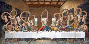 last supper Painting - Last Supper deer Fantasy