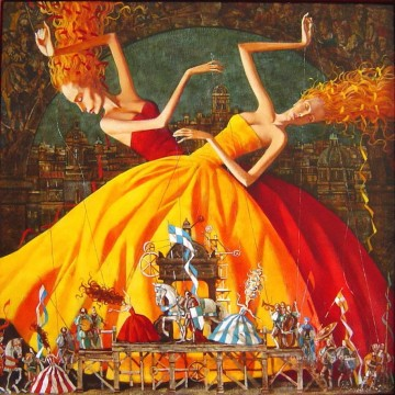 Artworks in 150 Subjects Painting - Les Deux Marionettes Fantasy