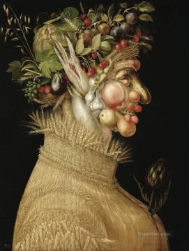 Artworks in 150 Subjects Painting - Summer 2 Giuseppe Arcimboldo Fantasy