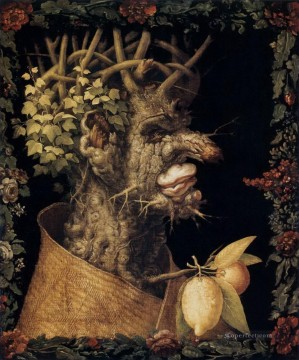 Artworks in 150 Subjects Painting - Winter Giuseppe Arcimboldo Fantasy