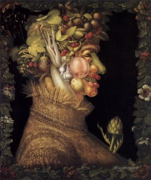 Artworks in 150 Subjects Painting - summer 3 Giuseppe Arcimboldo Fantasy