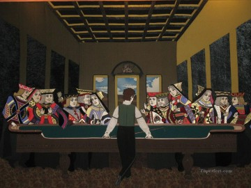 Fantasy Oil Painting - Casino Last Supper Fantasy
