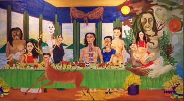 Frida Kahlo Last Supper Fantasy Oil Paintings