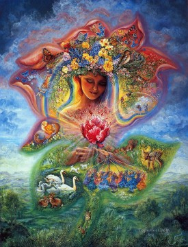 JW goddesses creation of spring Fantasy Oil Paintings