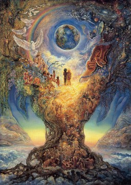JW tree of peace millennium tree Fantasy Oil Paintings