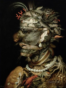 man of sealife Giuseppe Arcimboldo Fantasy Oil Paintings