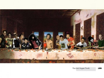last supper Painting - the last supper punk Fantasy