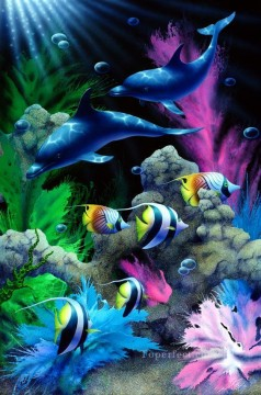 Fish Aquarium Painting - Enchanted Waters under sea