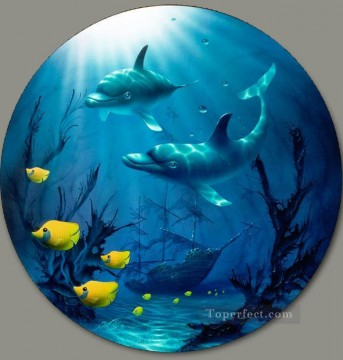 Fish Aquarium Painting - Guardian under sea