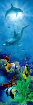 Fish Aquarium Painting - Hana Kai under sea