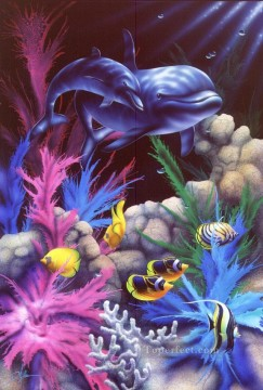 Fish Aquarium Painting - Lahaina Harmony under sea