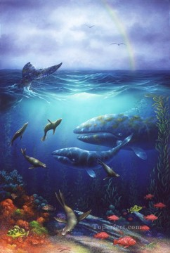 California Grays under sea Oil Paintings