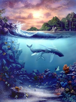 Fish Aquarium Painting - Destiny under sea