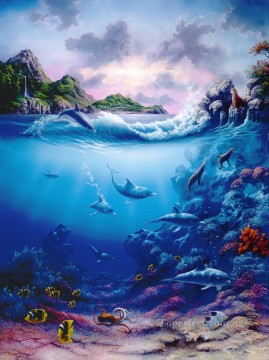 Seabed World Painting - Playmates under sea